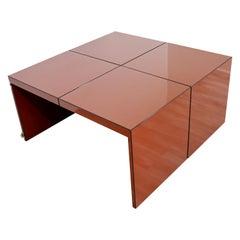 Mid Century Modern Domino Acrylic Modular Table Wichers & Blomberg Rosenthal 70s