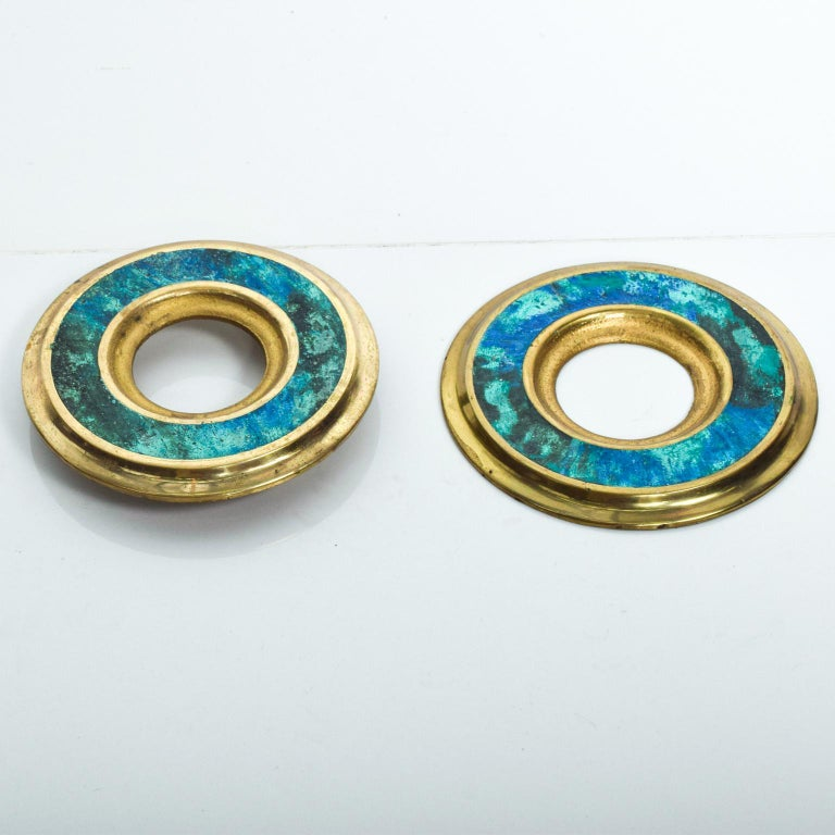 Bronze Mid-Century Modern Door Ring Pulls by Pepe Mendoza Mexican Modernist For Sale