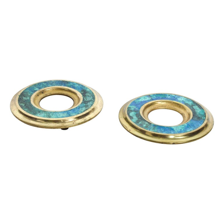 Mid-Century Modern Door Ring Pulls by Pepe Mendoza Mexican Modernist For Sale