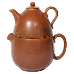 Mid-Century Modern Double Ceramic Teapot by Gunnar Nylund for Rörstrand