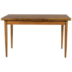 Mid-Century Modern Draw Leaf Extending Dining Table After Conant Ball
