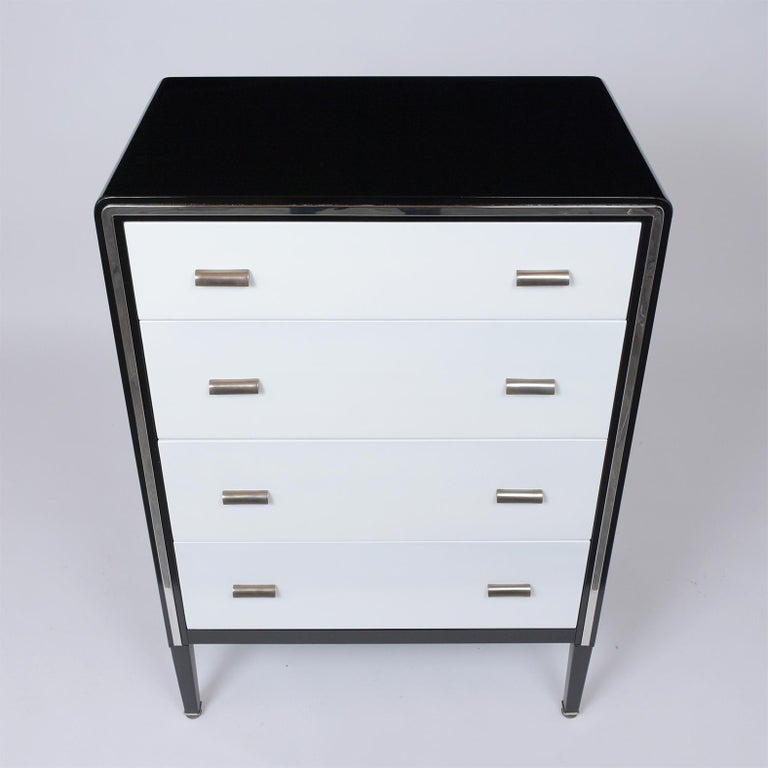 American 1960's Mid-Century Modern Lacquered Chest of Drawers For Sale