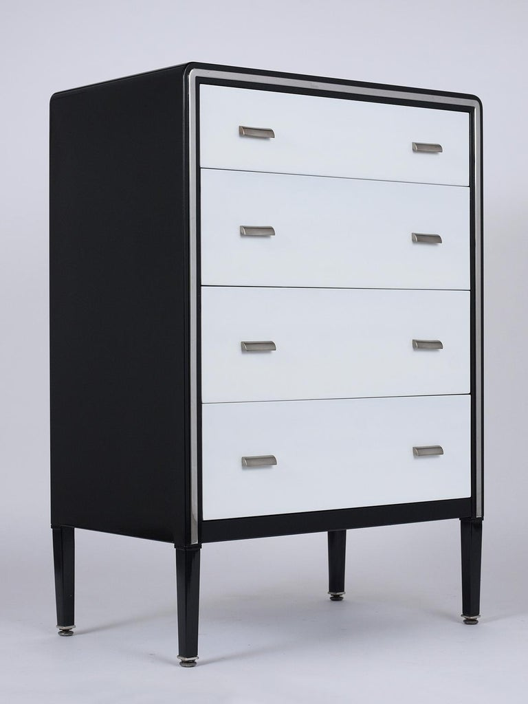 Hand-Crafted 1960's Mid-Century Modern Lacquered Chest of Drawers For Sale
