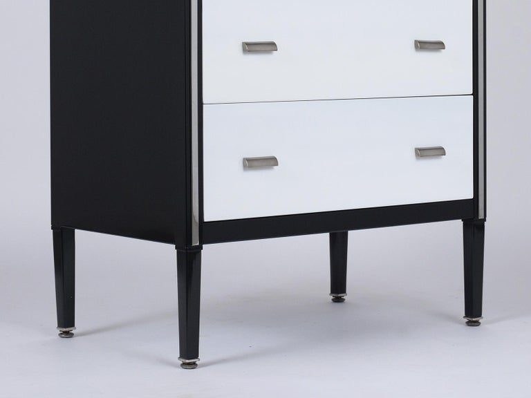 Metal 1960's Mid-Century Modern Lacquered Chest of Drawers For Sale