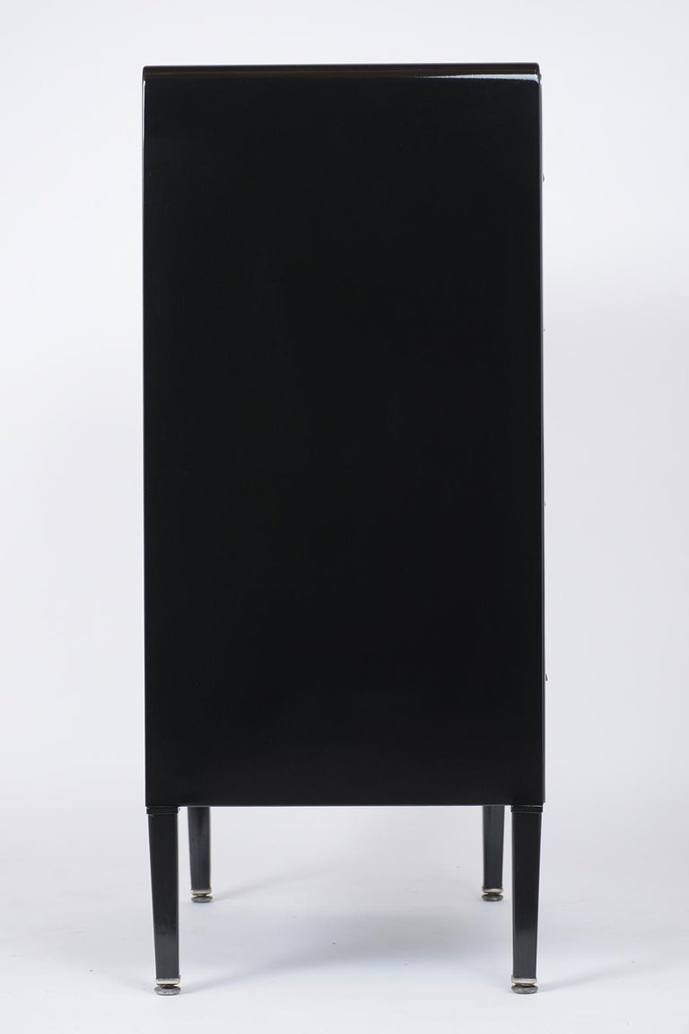 1960's Mid-Century Modern Lacquered Chest of Drawers For Sale 1