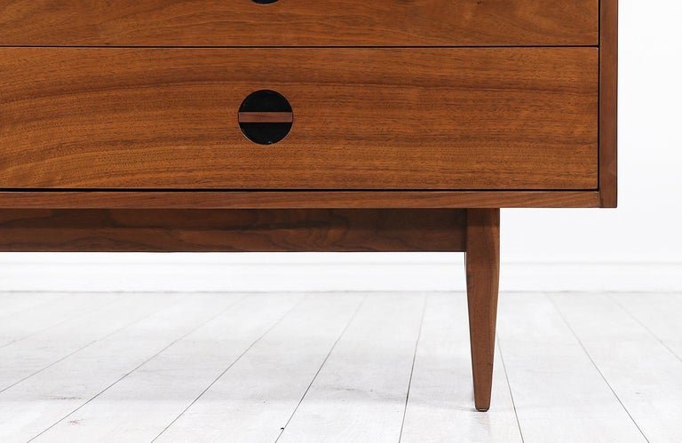 Mid-Century Modern Dresser with Lacquered Bowtie Style Drawers 6