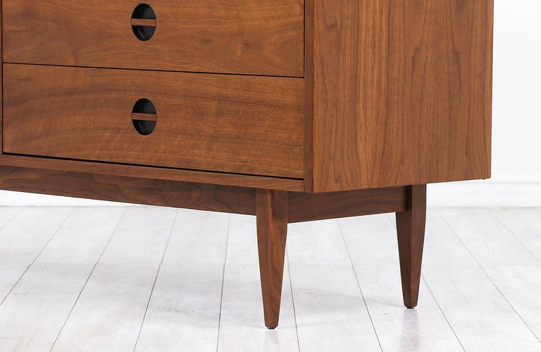 Mid-Century Modern Dresser with Lacquered Bowtie Style Drawers 3
