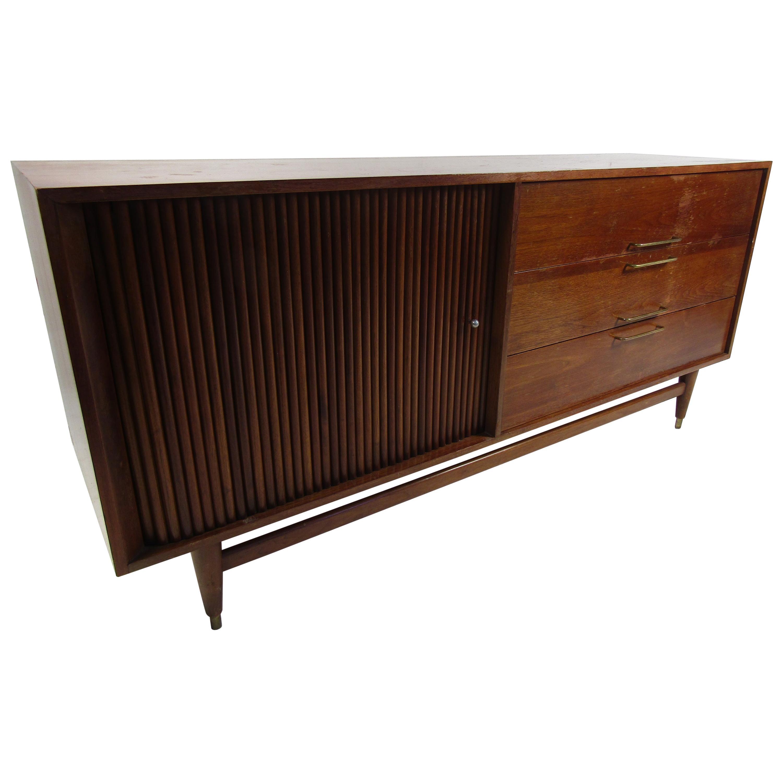 Mid-Century Modern Dresser with Tambour Door