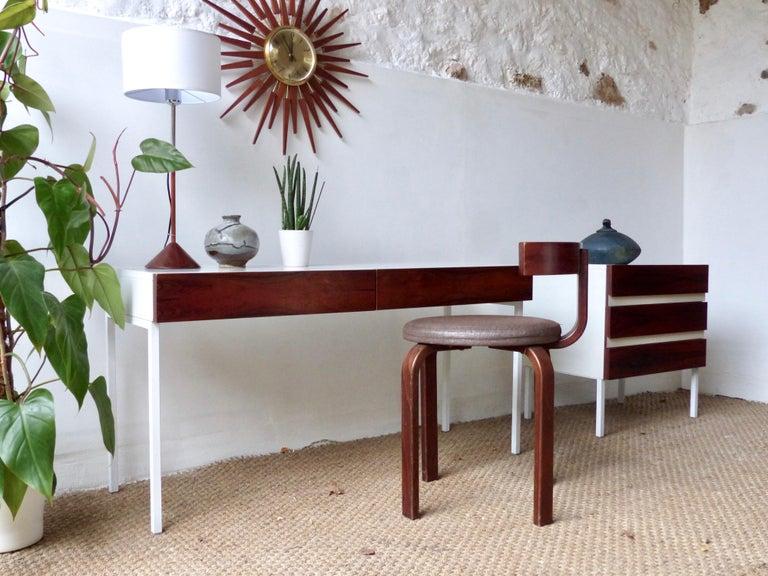 Mid Century Modern Dressing Table In Rosewood Interlubke Bei 1stdibs