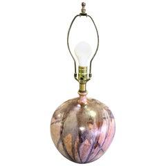 Mid-Century Modern Drip Glaze Studio Ceramic Pottery Table Lamp