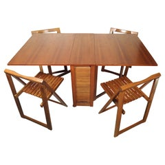 Mid-Century Modern Drop Leaf Table and Chairs