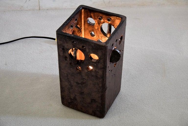 Mid-Century Modern Dutch Ceramic Table Lamp For Sale 6