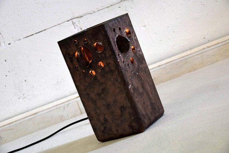 Mid-Century Modern Dutch Ceramic Table Lamp For Sale 4