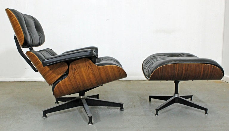 American Mid-Century Modern Eames Herman Miller Rosewood Lounge Chair 670 & Ottoman 671 For Sale