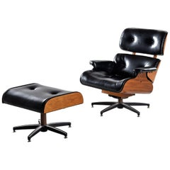 Mid-Century Modern Eames Style Recliner Made in Canada
