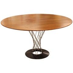 Mid-Century Modern Early Isamu Noguchi Knoll Cyclone Walnut Dining Table, 1960s