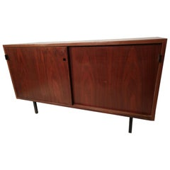 Mid-Century Modern Early Knoll Walnut 2-Door Credenza