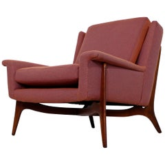 Mid-Century Modern Early Sculptural Wood Lounge Armchair, 1950s