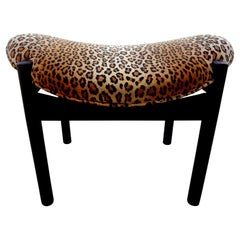 Mid-Century Modern Ebonized Floating Bench or Ottoman by Arthur Umanoff