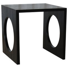Mid-Century Modern Ebonized Oak Side Table, 1960s