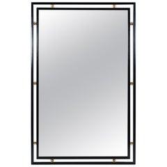 Mid-Century Modern Ebonized Wall Mirror