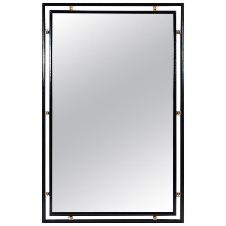 Mid-Century Modern Ebonized Wall Mirror For Sale
