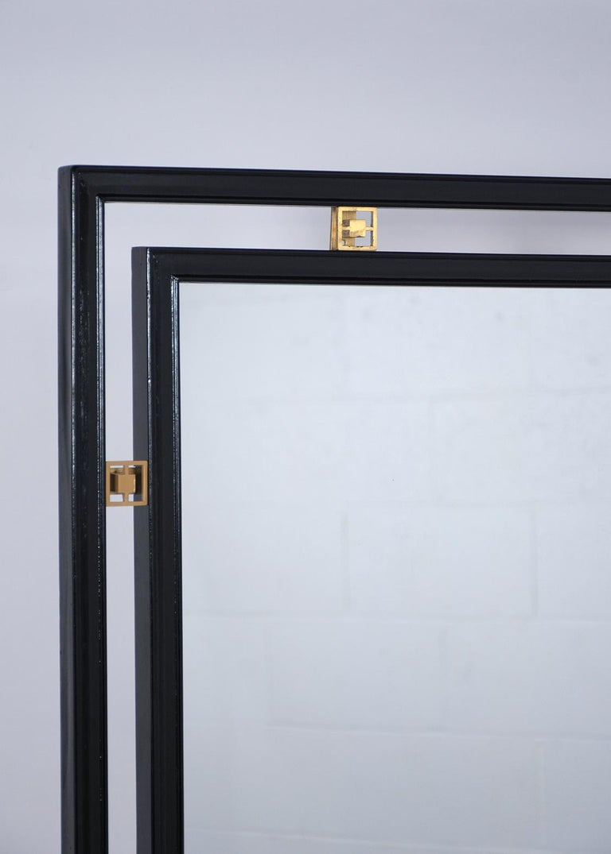 American Mid-Century Modern Ebonized Wall Mirror For Sale