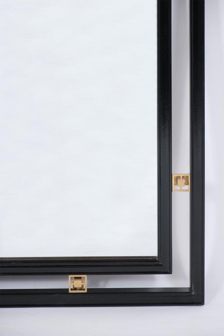 Mid-20th Century Mid-Century Modern Ebonized Wall Mirror For Sale