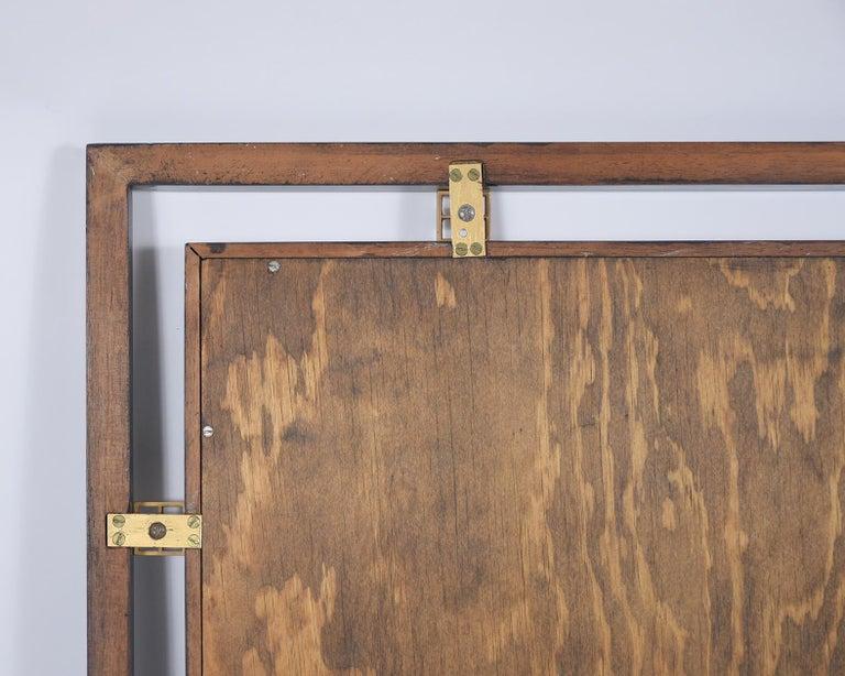 Mid-Century Modern Ebonized Wall Mirror For Sale 1