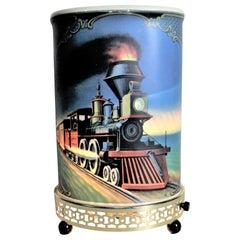 Mid-Century Modern Econolite Steam Locomotive Motion Table Lamp or Light
