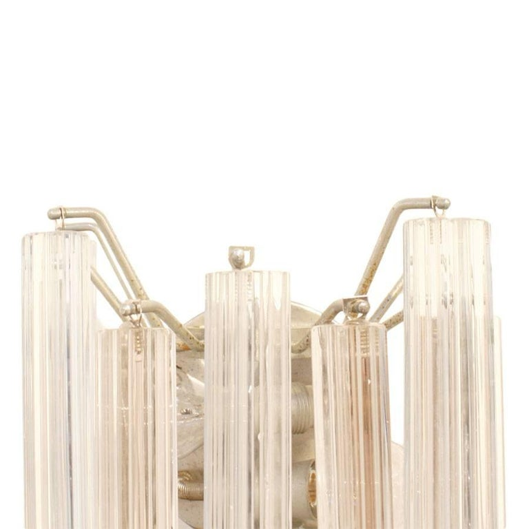 Mid-Century Modern Edited and Signed by Venini Italian Pair of Sconces In Good Condition For Sale In Madrid, ES