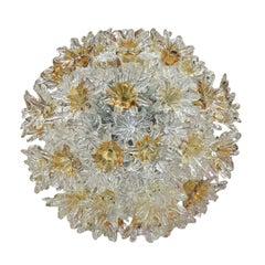 Mid-Century Modern Edited by Venini Murano Glass Italian Ceiling Lamp