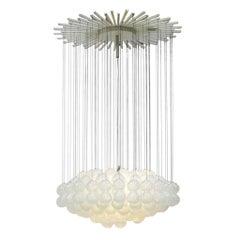 Mid-Century Modern Edited by Zero Quattro Murano Glass Italian Pendant Lamp