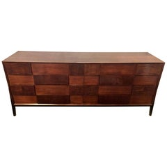 Mid-Century Modern Edmund Spence Fashion Double Dresser in Walnut & Ebony