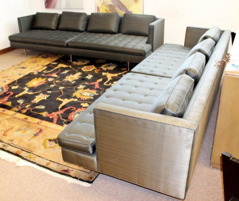 Upholstery Mid-Century Modern Edward Wormley for Dunbar Chamberlain Model 4907a Sofa For Sale