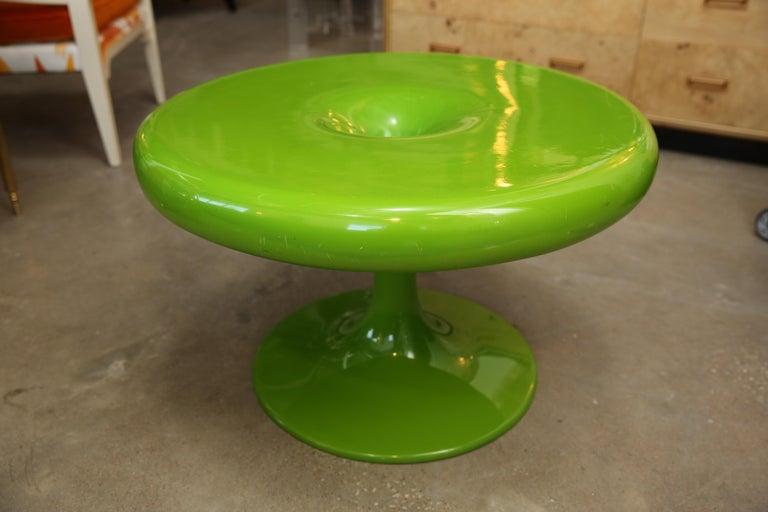 Finnish Mid-Century Modern Eero Aarnio Kantarelli Fiberglass Occasional / Side Table For Sale