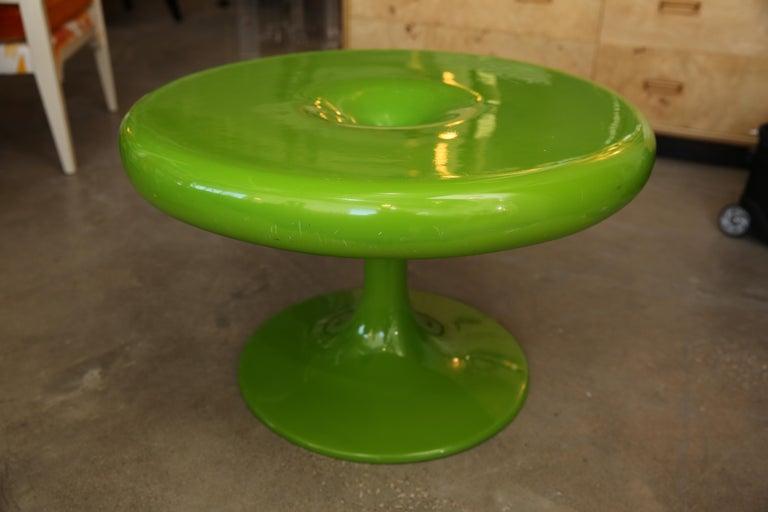 Molded Mid-Century Modern Eero Aarnio Kantarelli Fiberglass Occasional / Side Table For Sale