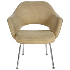Mid-Century Modern Eero Saarinen for Knoll Executive Armchair on Chrome Legs