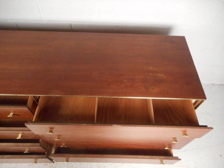 Brass Mid-Century Modern Eight-Drawer Dresser by R-Way For Sale