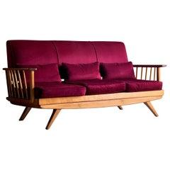 Mid-Century Modern Elm Sofa Danish, circa 1960s