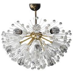 Mid-Century Modern Emil Stejnar Starburst Brass Ceiling Lamp for Rupert Nikoll