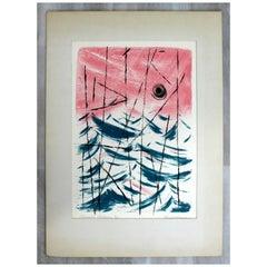 Mid Century Modern Emil Weddige Unframed Lithograph Summer Patterns