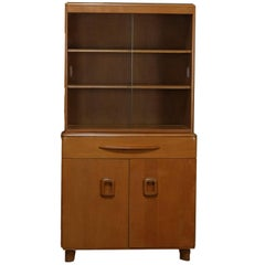 Mid-Century Modern Encore Step Back Cupboard by Heywood Wakefield, Wheat, 20th C