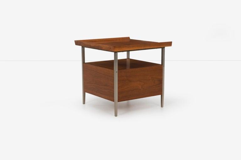 Walnut Mid-Century Modern End Table Finn Juhl Style For Sale
