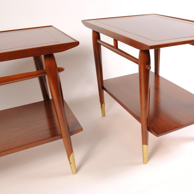 American Mid-Century Modern End Tables by Lane For Sale