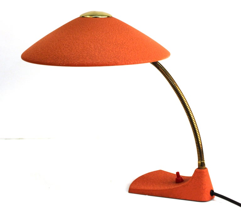 20th Century Mid-Century Modern European Metal Desk Lamp For Sale
