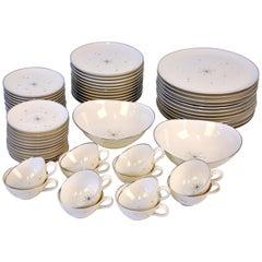 Mid-Century Modern Evening Star Porcelain Dinner Service for 12