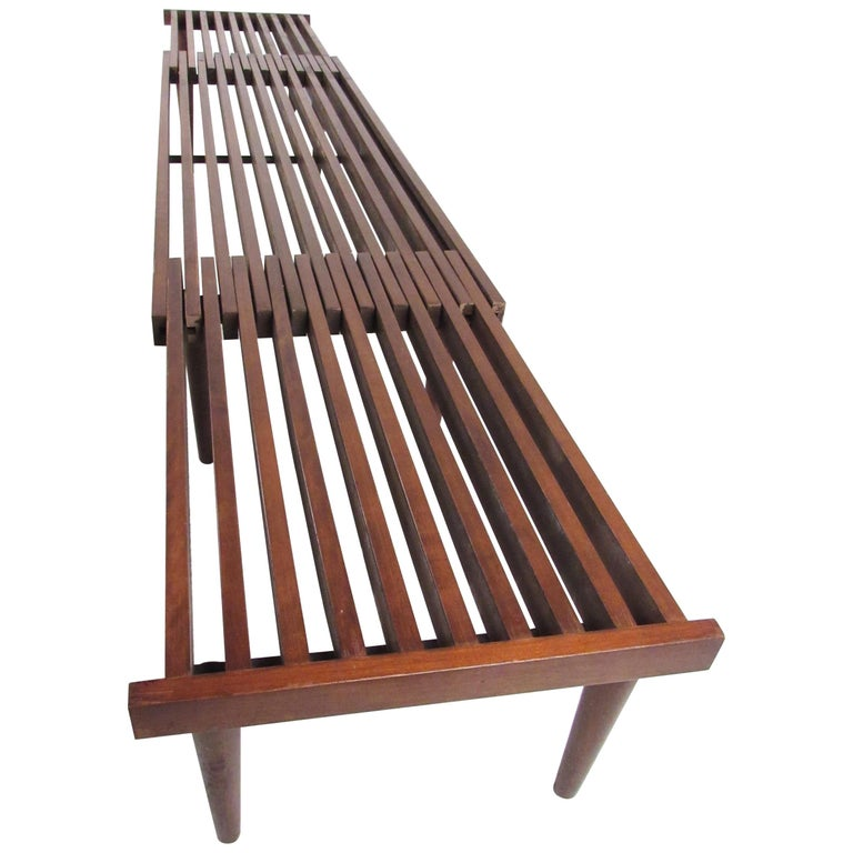 Mid Century Modern Expandable Slat Bench For Sale At 1stdibs