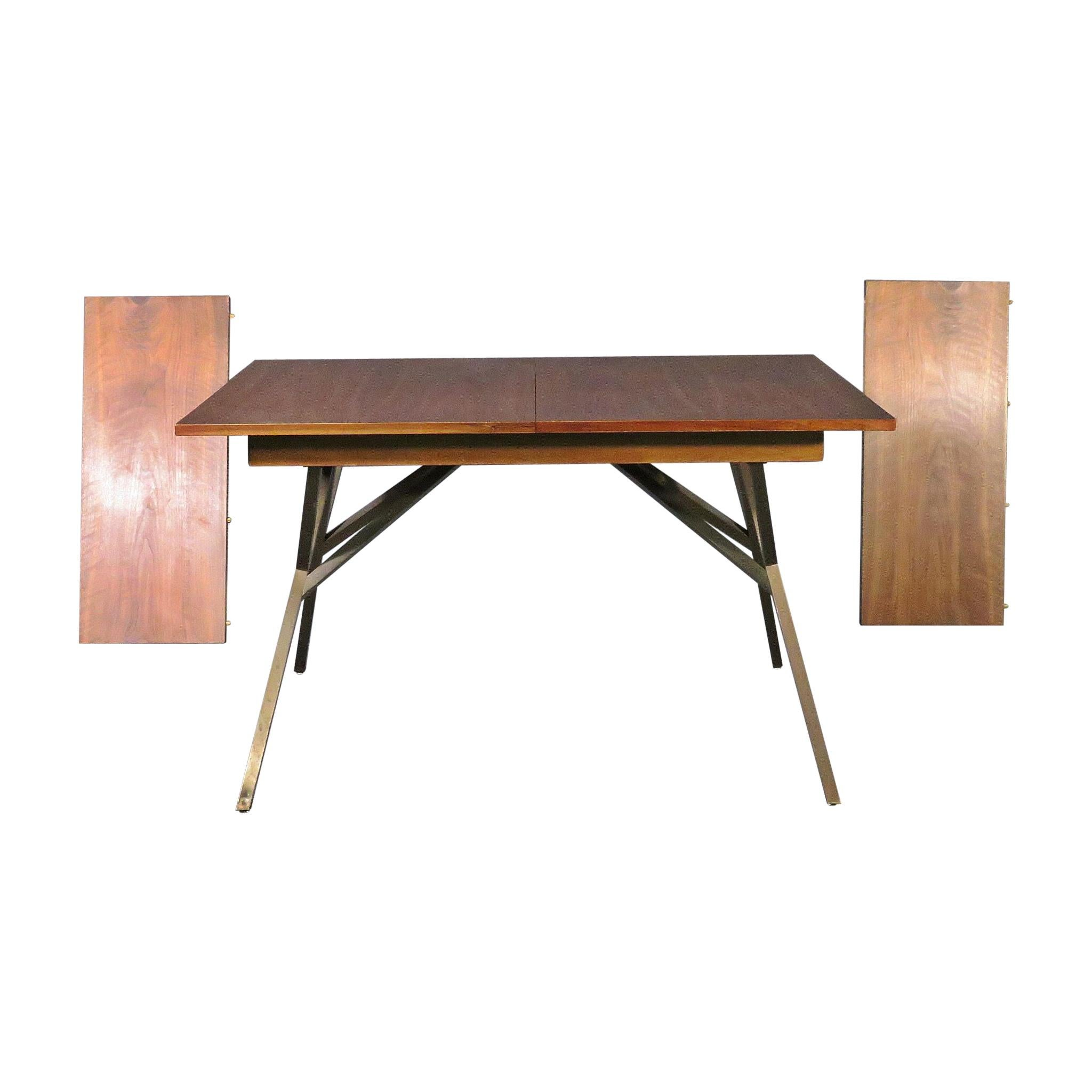Mid-Century Modern Extendable Dining Table