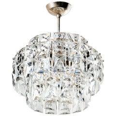 Mid-Century Modern Faceted Crystal Prism Chandelier by Kinkeldey, circa 1960s